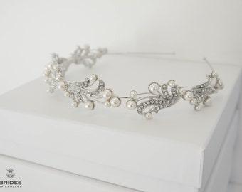 Wedding Bridal Pearl Tiara