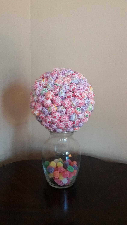 Pink Lollipop Centerpiece : Pink candy centerpiece multi colored party favor
