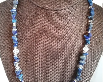 Multi-Colored Blue Necklace