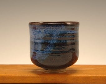 Small Blue Footed Cup -- Stoneware Cup