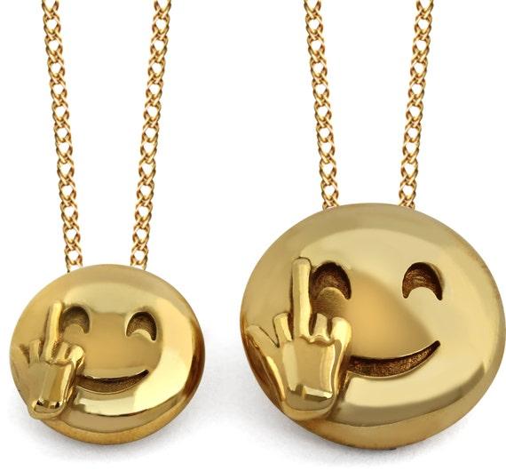 Middle Finger Emoji Pendant 3D Middle Finger Emoji Jewelry