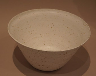 White spotty bowl with flared rim
