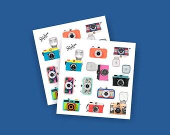 Vintage Camera Stickers / Holga, La Sardina, Diana | T4