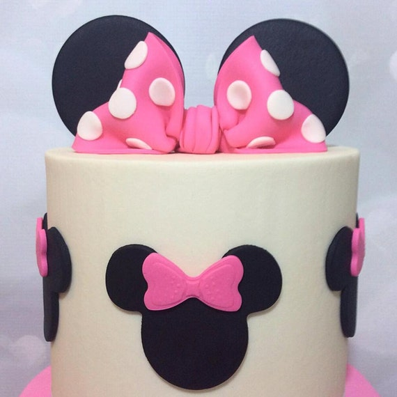 mickey ears wedding cake topper minnie ears and bow cake topper 17351