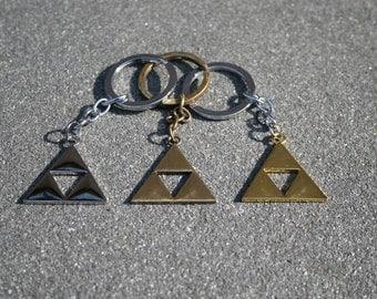 Legend of Zelda Triforce Keyring (Silver, Gold or Bronze)