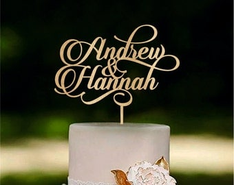 Personalized wedding cake topper Custom name cake toppers Couple cake topper last name cake toppers wooden cake toppers wedding decorations
