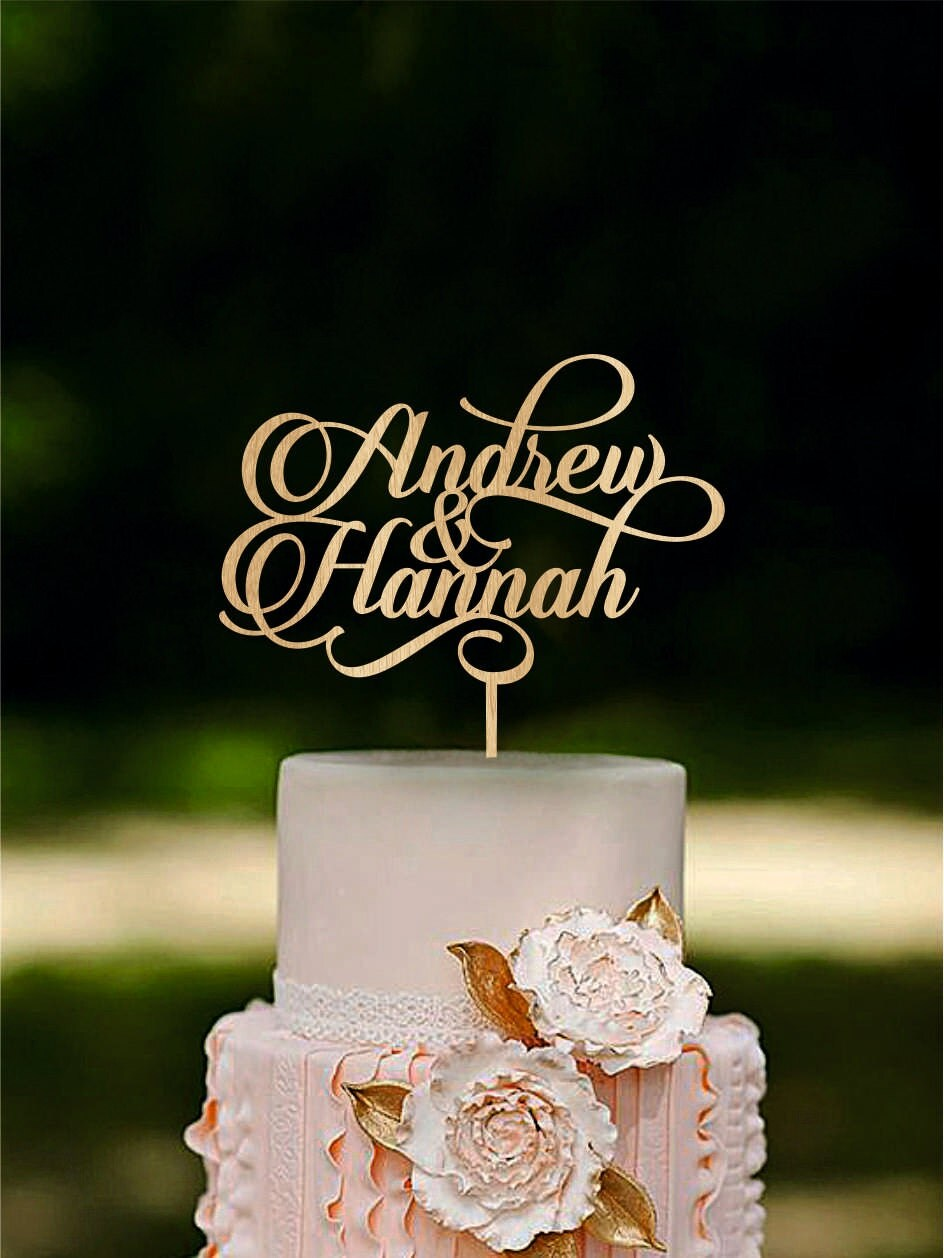 Personalized wedding cake topper Custom name cake toppers