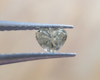 0.19 Carat Loose Natural Champagne Heart Shaped Diamond.