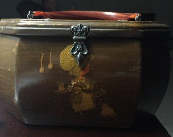 Holly Hobbie Vintage Brown Pocketbook