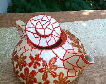 Tea-teapot (Stained glass painting)