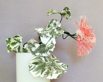 Geraniums, Toile, Fabric Plants, Fabric Flowers