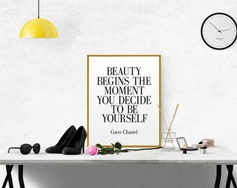 Chanel Quote Coco Chanel Poster Chanel Wall Art Chanel Printable Fashion Quote Fashionista Coco Chanel Print Girl Room Decor COCO CHANEL Art