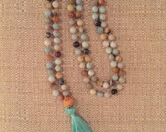 Amazonite Full Length 108 Bead Mala