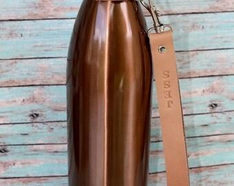 Swell bottle strap, water bottle strap, water bottle carrier, water bottle holder, hands free water bottle holder water bottle personalized