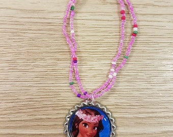 10 - Princess Moana - Pink Bracelets Party Favors