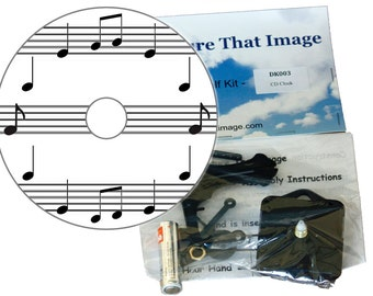 Musical Notes CD Clock Kit