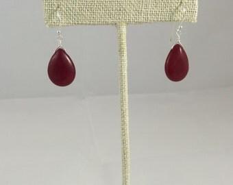 Cherry Quartz Sterling Silver Earring