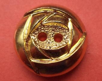 10 buttons gold 18mm (1407) button