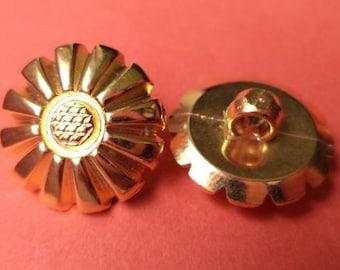 10 buttons gold 15mm (2102) button