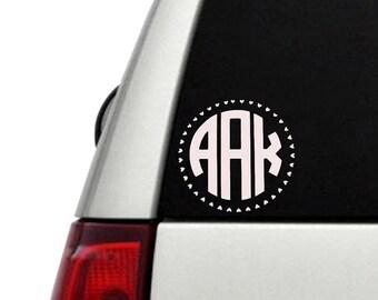 Monogram vinyl decal, Monogram car sticker, custom name sticker decal, Personalized decal sticker, Monogram laptop sticker, Monogram decal