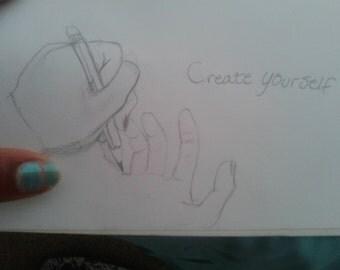 pencil sketched art