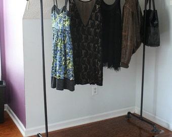 Black Pipe Garment Rack,