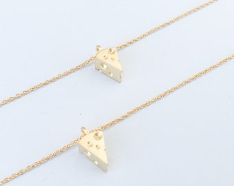 Cheese, Food, Art, Funny, Christmas, Best Friend, Friendship, Mom, Aunt, Girlfriend, Sister, Birthday, Gift, Dainty, Necklace, Jewelry,