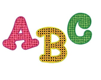 "Applique font embroidery design - Embroidery fonts - Monogram applique font - INSTANT DOWNLOAD - Machine embroidery design - 3"" 4"" 5"" size"