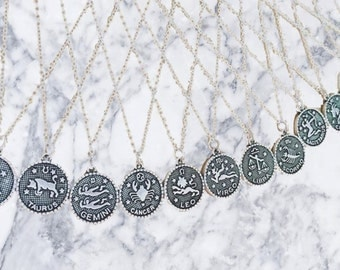 chain necklace Zodiac necklace,pendant sign,sign birthday,zodiac,Astrological sign,Star sign,Necklaces,choker,new necklace,silver jewelry