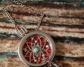 Aromatherapy Essential Oil Diffuser Necklace: Dreamcatcher (SALE !)
