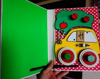Handheld Busy Book, Activity Board Book, Quiet Book