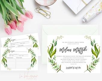 Printable Bridal Shower Invitation /  Shower Invite, Wedding Shower  - Melina