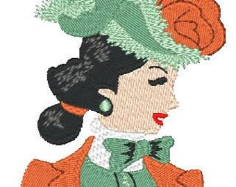 Pretty Ladies  ( 10 Machine Embroidery Designs from ATW )