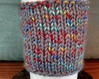 Rainbow Weave Reusable Knit Hot Coffee Sleeve