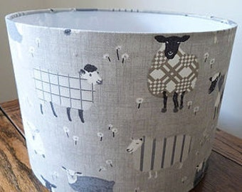 Sheep Lampshade Handmade Baa Baa Sheep Lamp Shade