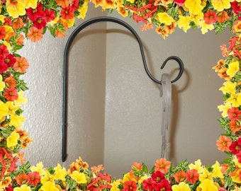Hanging Plant bracket. Solid Steel Construction. Indoor/Outdoor.