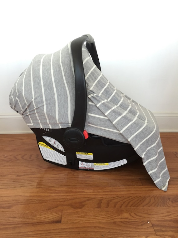 Infant Car Seat Cover Grey And White By Oliviascarlettdesign