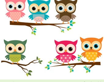 Brown owl clipart | Etsy