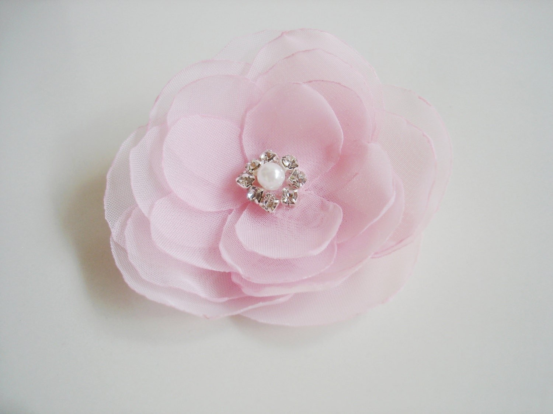 Pink Flower Girls Hair Clip Bulk Flower Girl Hair