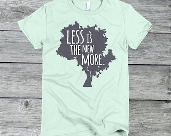 Less Is the New More - Women's American Apparel Minimalist Fine Jersey T-Shirt