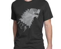 Game of Thrones inspired T-shirt GOT t-shirt House Stark of Winterfell shirt Winter is coming Jon Snow Crow North Wall
