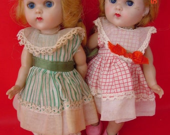 1956 Vintage Vogue Ginny Merry Moppets 7 in Walker Dolls