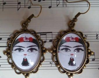 Earrings 'Frida Kahlo'