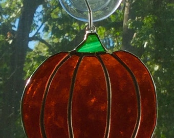 Stained Glass Pumpkin Suncatcher By Sparkle Stained Glass
