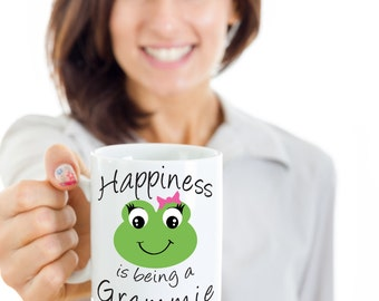 Cool Grammie Mug - Happiness is being a Grammie - Gift Mug For Grammie, Great Birthday Gift, Grammie Present