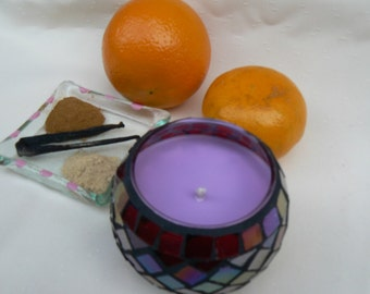 Candles Pure essential oils Hand Crafted Mosiac Pots