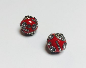 Red Embellagio Beads - 4 Pieces - #130