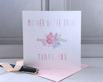 Mother Of The Bride Thank You Card - Mother Of The Bride Card - Thank You Card - Wedding Thanks Card