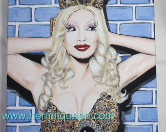 Jinkx Monsoon Drag Queen Acrylic Painting on Canvas
