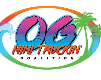 QTY: 4 ~ OG MiniTruckin Coalition Stickers